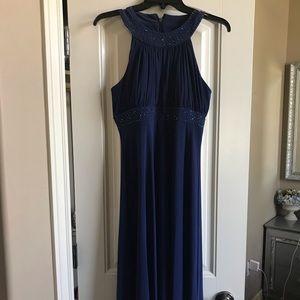 Navy Blue Embellished Dress